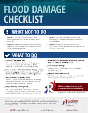 House Fire Checklist