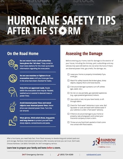 Hurricane Recovery Checklist