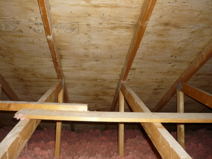 Mould in the attic (after)
