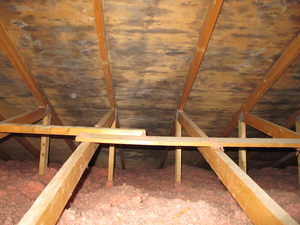 Mould in the attic (before)