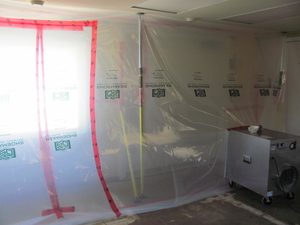 Negative air test prior to mould remediation