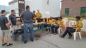 The Kooteneys hosted a Shrimp Boil food donation to the forest fire fighters