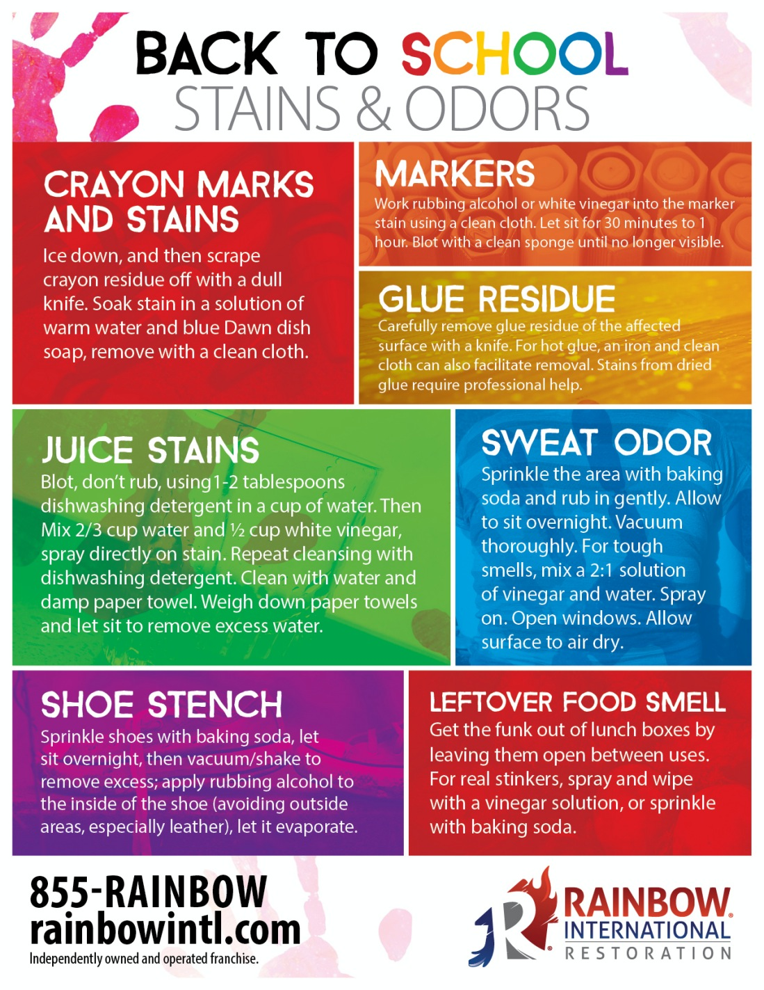 Infographic about Back to School Stains