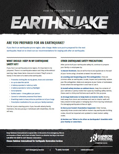 Earthquake Preparedness Checklist