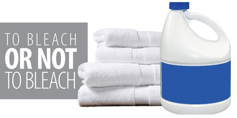 Bleach bottle and towels