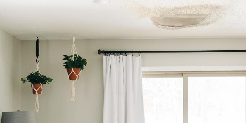 Noticed water damage on your home ceiling? Learn how to determine if it's caused by water damage from a leaking roof and how to locate roof water damage.