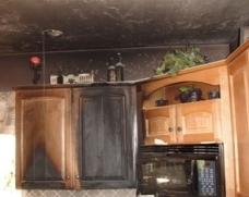 Fire damage in a home