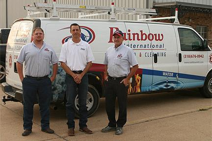 Picture of the team at Rainbow International of Shreveport